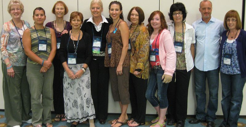 Photo of LSAP participants: (from left to right): Joan White; Kim Avanthay; Jan Hasak; Anna Kennedy; Sakia Thiadens; Heather Ferguson; Jane Dweck; Talia Frombach; Cathy McPherson; Steve Norton; and Deborah Frombach